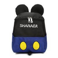 ingrosso borsa blu scuola dei ragazzi-Kids Cartoon Blue School Bag 3D Bambini Grande zaino per bambini delle scuole materne Ragazzi carino Schoolbag Miglior regalo di compleanno