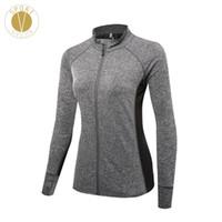 Wholesale grey zip jacket - Lightweight Zipper Sports Jacket - Women's Winter Running Marathon Training Gym Comfort Zip Up Slim Layer Top Windproof Jacket