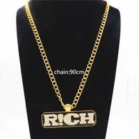 hip-hop-anhänger marke großhandel-Hip Hop Anhänger Der Rap Von China Halskette Bling reiche marke Modeschmuck Für Männer Freund Geschenke