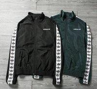 Wholesale Plus Size Spring Outerwear - Brand ad jacket Mens Coat Sweatshirt Hoodie Women Jacket Long Sleeve Spring Sportswear Zipper Windcheater Plus Size Outerwear with Logo