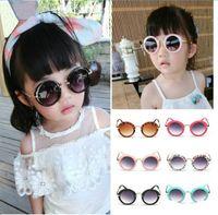 niños gafas al por mayor-Moda niños pequeños niños niñas mujeres niños pequeños retro anti-UV400 sombrillas gafas de sol gafas gafas de sol