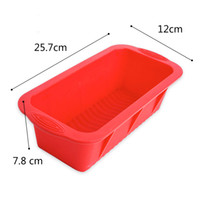 Wholesale loaf bakeware for sale - Group buy Big Rectangular Silicone Loaf Cake Mold Non Stick Bread Toast Bakery Molds Cakes Baking Tools Bakeware Maker