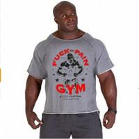 trapos ropa al por mayor-Verano para hombre Ropa de marca Camisetas de hombre Golds Fitness Men Bodybuilding Gorila Use Camisa Manga Batwing Trapo Tops MMA-1 S917
