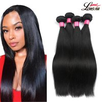 Wholesale coloured human hair for sale - Group buy Brazilian Straight Virgin Hair a Mink Unprocessed Straight Human Hair Bundles Natural Colour Brazilian Virgin Straight Human Hair Weave