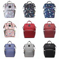 Wholesale Best Baby Bags - Diaper Bag Unicorn Multi-Function Waterproof Travel Backpack Nappy Bags for Baby Care Kids Backpacks Best Gifts 18 Styles DHL Free Shipping