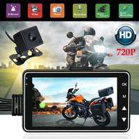 fpv беспроводной передатчик оптовых-Двойной мотоцикл камера 720p HD видео рекордера действий IP68 Сид автомобиля DVR тире Cam + камера