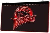dekor savaşçısı toptan satış-LS812-r-Warriors 3D LED Neon Işık Burcu Dekor Ücretsiz Kargo Dropshipping Toptan 6 renk seçmek için