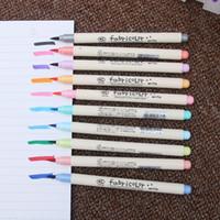 material chinês venda por atacado-10 pcs Fabricolor escrever pincel caneta Cor Canetas Marcadoras de caligrafia definir Papelaria Chinesa arte Desenho material Escolar