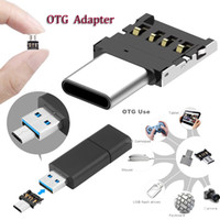 Wholesale ipad otg cable online – New universal mini OTG adapter fast data transfer usb micro usb type C OTG adapters for usb device disk cellphone ipad PC keyboard