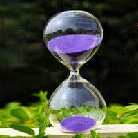 Wholesale sandglass hourglasses resale online - 60pcs Fashion Style Glass Minutes Sandglass Time Counter Count Down Timer Hourglass Clock Creative Gift Home Decor for Gift