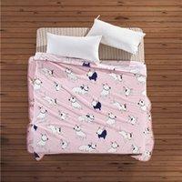 katzen quilts großhandel-Nette Katzen-Rest-Flanell-Decken-Hundekissen-warmer Schlaf-Haar-Abdeckungsmatte-Steppdecken-Bett-Plüsch-Teppich-korallenroter Vlies-Hund für Kinder