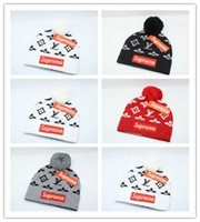 Wholesale hip hop winter caps resale online - New Design Luxury Winter brand CANADA men beanie Fashion Designer Bonnet women Casual knitting hip hop Gorros pom pom skull caps hair ball