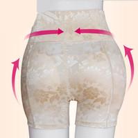 neue hintern pads großhandel-Heiße neue Ankunft hohe Taille Frauen Unterwäsche Sexy Butt Hip Enhancer Former Nahtlose Boxer Frauen Spitze gepolsterte Höschen