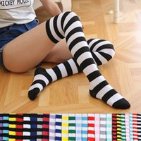e7d6fadbe Colorful Sexy Striped Boots Compression Stockings Girls Over Knee Socks  Women s Socks Long Body Fashion Thigh High Women