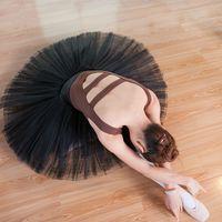 erwachsene schwan kostüm großhandel-professionelle klassische Giselle Ballett Tutu Erwachsene professionelle Kostüme Frau Schwan See pancaked Rock Gymnastik Trikot Tanz