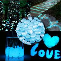 ingrosso ciottoli pietre-20KGS Glow in The Dark Stones Ciottoli Rock per Decorazioni da giardino Decor Fish Tank Acquario Vaso Deco Megic Stones