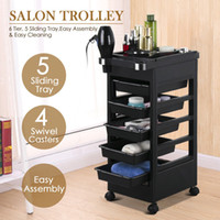 Wholesale Salon Hairdresser Barber Beauty Storage Trolley Hair Drawers Colouring Cart Spa
