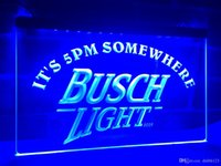 Wholesale neon busch beer signs - LA446b- It's 5 pm Somewhere Busch Beer LED Neon Light Sign