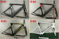 bisiklet gökyüzü ekibi toptan satış-80 renkler Karbon Yol Bisikleti Çerçeve CARROWTER Beyaz Altın Frameset Karbon Bisiklet Frameset BOB TAKı Sky BB68 veya BB30
