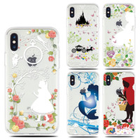 Wholesale alice case online - For Apple iphone X plus plus S TPU Princess Alice cartoon case landscape Plating TPU Clear cell phone cases