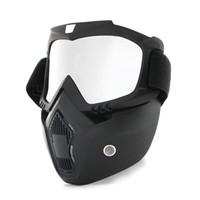 tam yüz maskesi toptan satış-SıCAK Toz geçirmez Bisiklet Bisiklet Tam Yüz Maskesi Rüzgar Geçirmez Kış Isıtıcı Eşarp Bisiklet Snowboard Kayak ile uv gözlük Erkekler / kadınlar