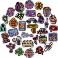 çocuklar için serin çıkartmalar toptan satış-50 ADET Neon Burcu Çıkartmalar Doodle Yenilik Sticker Oyuncak Çocuklar için DIY Ev Dizüstü Bagaj Karalama Defteri Şişe Kaykay Motosiklet Gitar Serin Gif