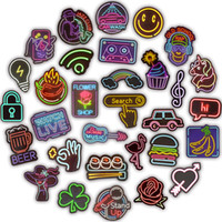 50 PCS Neon Sign Stickers Doodle Novelty Sticker Toy for Kids DIY Home Laptop Luggage Scrapbook Bottle Skateboard Motorcycle Guitar Cool Gif