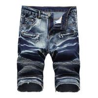 b2561d112f4 NEW Short en denim pour hommes jeans pour hommes pantalons extensibles en  denim pour hommes en jean cinq modèles d explosion