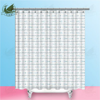 Wholesale shower curtain fish resale online - Vixm Cute Fish On The Surf White Background Navia Style Summer Beach Shower Curtains Polyester Fabric Curtains For Home Decor
