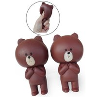 Wholesale Perfume Bear - Kawaii Perfume Slow Rising Brown Bear Squishy Squeeze Vent Decompression Relaxation Brown Bear Squishies Kids Toys AL0018
