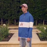 ingrosso giacca felpa con zip-18FW Kith Quarter-Zip Rugby Felpe Color Matching Giovane coppia Pullover Felpa Luxury Street Autunno Inverno Giacca da maglione HFYMWY164