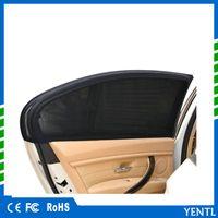 parasol de ventana lateral al por mayor-Envío gratis 2 x lado del coche ventana trasera cubierta parasol protectora sombrilla UV ventana lateral sombrilla cubierta de tela de malla protector UV