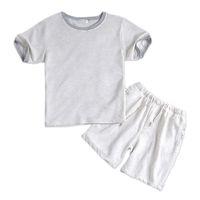 8c7510f6f68f Wholesale white cotton pyjamas for sale - Summer Cotton White Male Short  Pajama Sets Short Sleeves