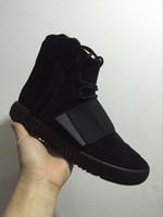 karartma ayakkabıları toptan satış-Yeni Erkek 750 Blackout Açık Havada Sneaker, Kanye West ayakkabı Sıcak Satış 750, Kaykay Ayakkabı, Sneakeheads Ayakkabı Yüksek Ayakkabı
