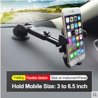 gps-pads großhandel-E-FOUR GPS Stand im Autotelefonhalter ABS + Metall Smart Drehen Einstellbare Windschutzscheibe Panel Stand für GPS-Telefon PAD Autozubehör