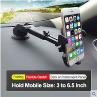 Wholesale Abs Gps - E-FOUR GPS Stand in Car Phone Holder ABS+Metal Smart Rotate Adjustable Windshield Panel Stand for GPS Phone PAD Car Accessories