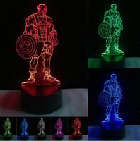 ECO Friendly Captain America Lamp   Novelty D Super Hero Captain America  Color Changing RGB Gradient