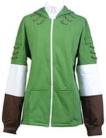 zelda link cosplay disfraces al por mayor-The Legend of Zelda Link Hoodie abrigo de cremallera chaqueta Hyrule Cosplay