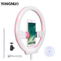 camara de video rosa al por mayor-venta al por mayor Ring Light 3200-5500K Rosa Selfie Light teléfono / cámara / estudio / teléfono / video 128 luces LED de la lámpara para Iphone / Samsung / Xiaomi