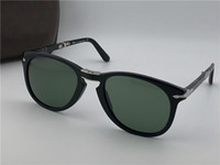Wholesale Italian Designer Sunglasses - Persol sunglasses 714 series Italian designer pliot classic style glasses unique shape top quality UV400 protection can be folded style