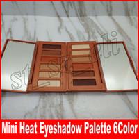 Wholesale free hot six ship - Hot Makeup Mini Heat Palette Eye Shadow Palette 6 color Matte Eyeshadow paletes DHL Free shipping