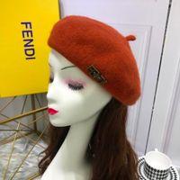 boinas para damas al por mayor-Mujeres de gama alta Casquillo de la boina Sombreros de las señoras Gorras de lana del temperamento contrario 001