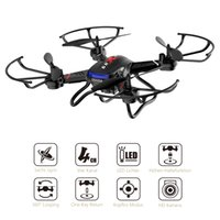 Wholesale Electric Rc Helicopters Rtf - Holy Stone 4 Channel 2.4GHz 6-Gyro Headless Mode RC Helicopter Quadcopter with HD Camera RTF 3D Flips Drone One Key Return F181C