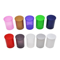 wholesale bottled pop UK - 19 Dram Empty Squeeze Pop Top Bottle Herb Box Pill Box case Herb Containers Airtight Storage Case Color Random