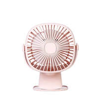 Wholesale usb clip fan resale online - 3 in USB Table Clip Fan mAh Operated Speed Degree Adjustable Cooling Fan Table Lamp with LED Night Light Home Q0774