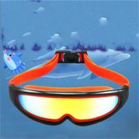 Wholesale boys swimming briefs - Anti Fog Adjustable Pating Children Swimming Goggles Brief Outdoor Girls Boys Eyewear Professional Waterproof Swim Glasses Adult 14zt dd