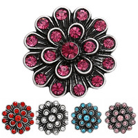Wholesale 12 pieces colors fashion rhinestone mm Snaps ginger snap buttons Jewelry