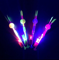 LED Amazing flying arrows toys Flying Arrow Rocket Helicopter Rotating Flying Toy Party Fun Gifts DHL