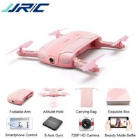 Wholesale jjrc h37 for sale - Group buy JJRC H37 Pink Mini Selfie Drone With P WIFI FPV Camera Foldable Arm APP Control RC Quadcopter