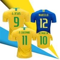 2018 2019 Brazil Coutinho G jesus Firmino 18 19 Home Soccer Jerseys Futbol  Camisa Brasil MARCELO Football Camisetas Shirt 11df4c27d